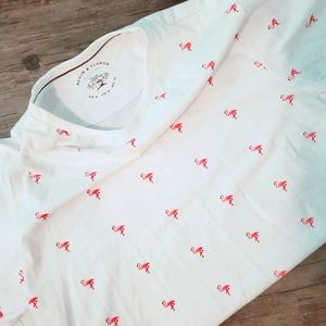 2 for 20 D&F mens M fitted flamingo t shirt nwot